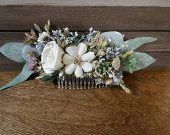 Bridal Hair combs, Hair comb, dried hair comb, Dried hair flower,  Flower Bobby Pin, hair flower comb, Wedding Hair Accessories, hair flower
