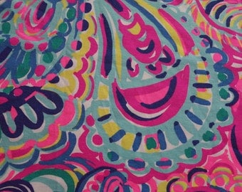 Psychedelic Sunshine  12 X 18 inches jersey fabric ~ Lilly Pulitzer~