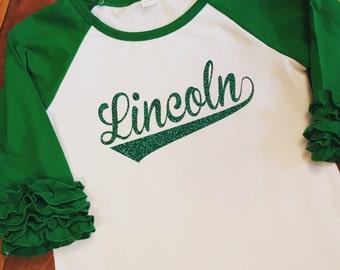 Lincoln Lions Spirit Shirt - Lincoln Baseball Swish with Heat Transfer Vinyl