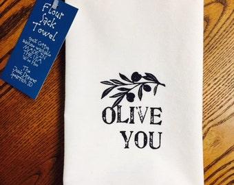 Olive you Tea Towel