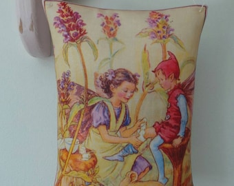 Flower Fairies self-heal fairy lavender filled pillow