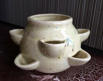 Vintage tiered planter pot ceramic