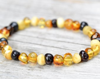 Polished Baltic Amber bracelet