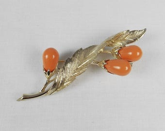 SARAH COVENTRY Faux Coral Brooch