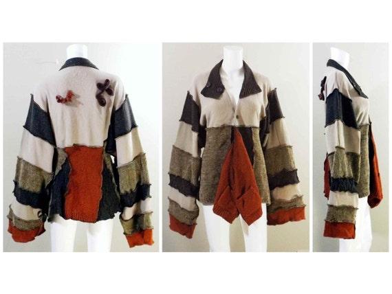 Upcycled Cardigan Sweater
