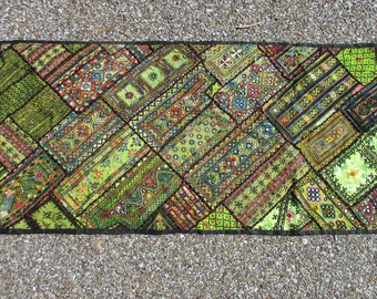 Sale Embroidered Ethnic Green Wall Hanging