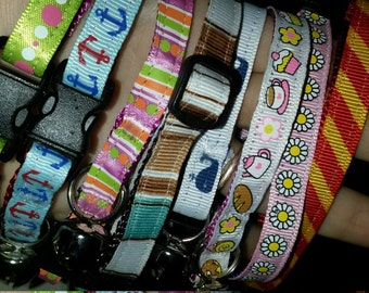 LOT OF 8 Breakaway Cat Collars - Various Sizes Wholesale Clearance