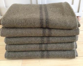 Dutch army blanket militairy blanket wool green blanket Bemo