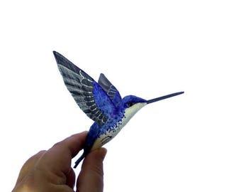 Paper mache Bird sculpture Ornament birds Hummingbird Art