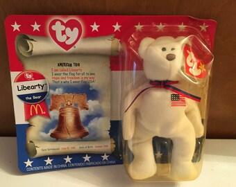 Mini Beanie Baby McDonald's toy, Libearty.