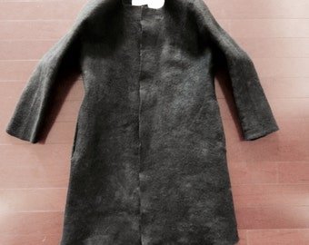 Winter jacket, Black jacket,wool jacket,wool coat,winter coat,wool coat,dress coat,Wool Felted Coat in Organic Shape,Black Wool Felted Coat