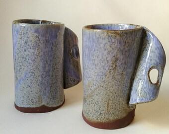 Ceramic blue mug // Stoneware mug // Unique creation for your coffe time // Tableware // Handmade gift