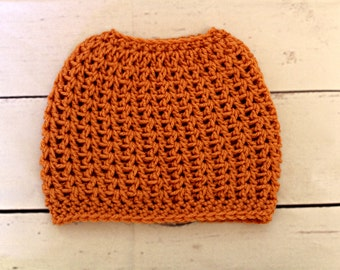 Messy bun hat - size small messy bun beanie - will fit child or small adult