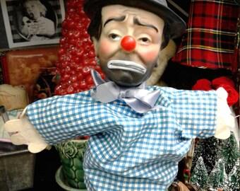 Darling Emmett Kelly 1950's vintage clown hand puppet