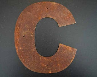 """8"""" Rusted Metal Letters with or with out mounting holes"""