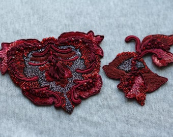 Beaded patches/ appliqués by Luneville embroidery/ couture embroidery.
