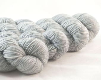 Hand Dyed Aussie Sock Yarn Medium Grey