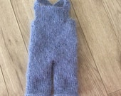 Newborn   Photo Prop ,Baby boy overalls ,Baby boy knit overalls,Mohair romper,Hand knitted romper