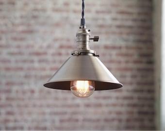 Pendant Lights - Bar Light -  Hanging Pendant Light - Industrial Shade Pendant - Modern
