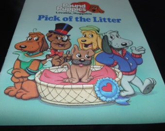 Vintage 1986 The Pound Puppies Pick of the Litter Little Golden book Illustrated Tonka