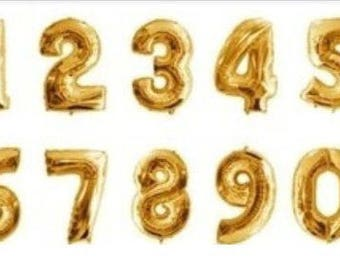 "Gold ,  Rose Gold, or silver Jumbo 40"" Balloon Number/ foil balloon/ number balloons"