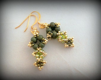 Diamond Drop Earrings - Designed by Datz Katz - Made by Jenny Sangster