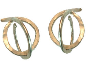 3D Bubble Hoop Earrings, 14k gold filled, sterling silver, 14k rose gold filled