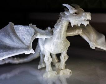 BJD Dragon   Ball Jointed Dragon   Crystal Dragon   Semi-Transparent Dragon