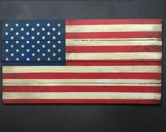 U.S. Flag Wood Wall Art, Patriotic US American Flag wall decor, home decor
