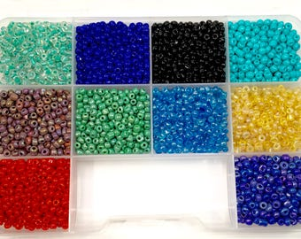 6/0 Seed Bead Kit, 10 Colors, 6/0 Seed Beads