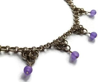 Purple Triangles Necklace