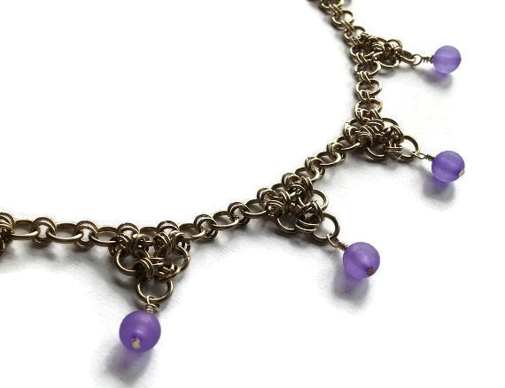 Purple Triangles Necklace