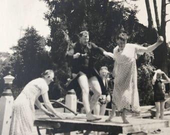 Table Dancing Vintage Photo