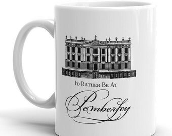 Pride and Prejudice, Austen |Ceramic Mug |11 oz Coffee/Tea Mug | Valentine's Day, Birthday Gift, Hostess Gift, Literary Gift, Teacher Gift