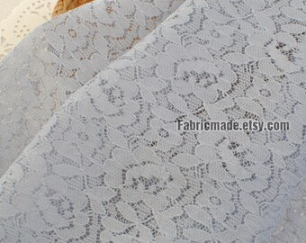 Lace Fabric, Embroidered Cotton Fabric, Hollowed Flower Lace, Green Blue Beige Black Lace - 1/2 Yard