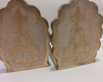 Florentine Bookends Italy French Chic Mid Century