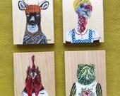 Choose ONE Millannial original ART block. Deer. Turkey. Rooster. Turtle.