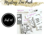 Mystery Zine Pack: A Surprise Pack of Creativity, Inspiration, Creative Writing, and Pen Pal Zines.  Great reading material!
