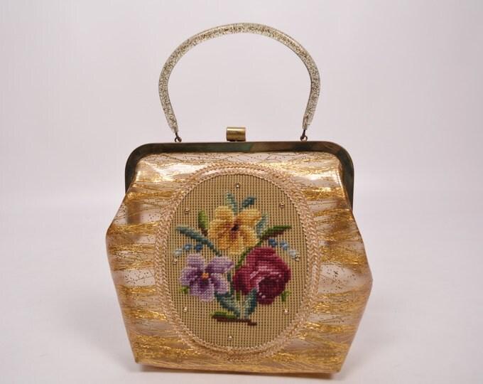 50's Clear Vinyl Vintage Purse Handbag