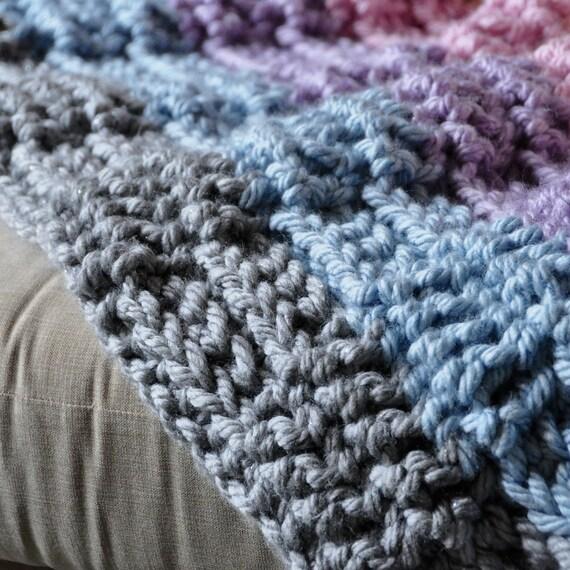 Knitting Yarn Bdo : Grande metallic throw instant download pdf crochet