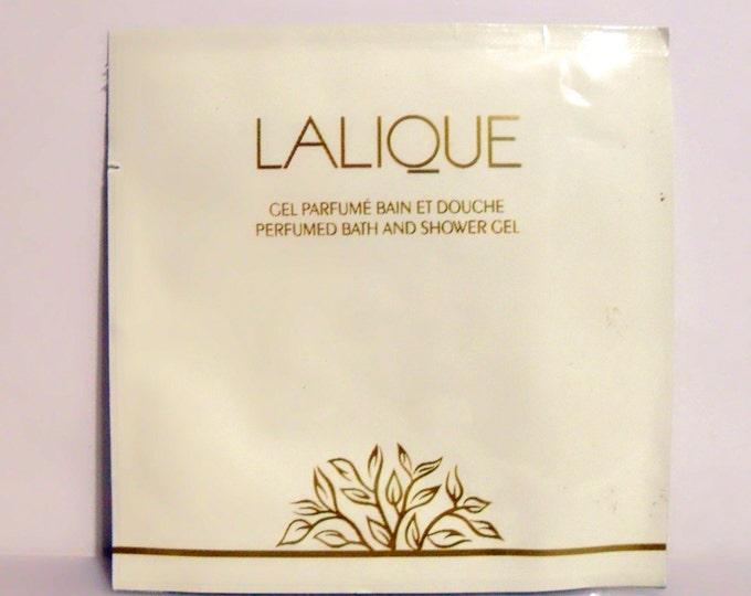 Vintage 1990s Lalique de Lalique 0.25 oz Perfumed Bath and Shower Gel Sample Packet