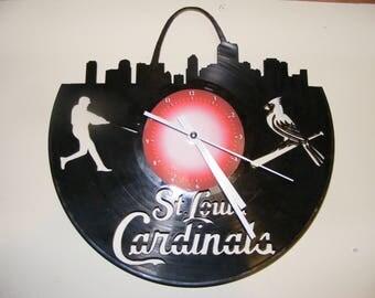 St Louis Cardinals Laser Cut Album Clock