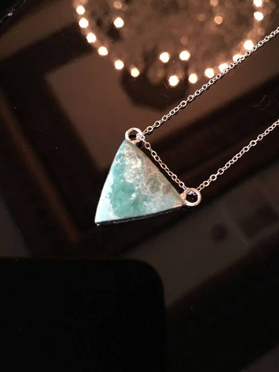 Turquoise necklaces, boho jewelry, turquoise jewelry, only the triangle necklace available.