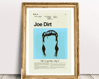 Joe Dirt Mid-Century Modern Inspired Print