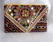 SALE 25%OFF Trendy Clutch, Boho Clutch Purse,Tribal Ethnic Embroidery Clutch, Boho Wallet, Womens Gift, Bohemian Clutch, Unique Gift