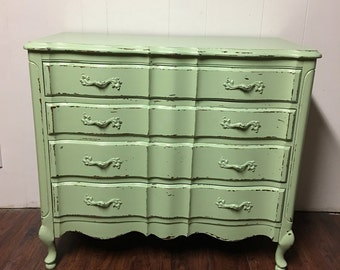 Sea Foam Green Dresser