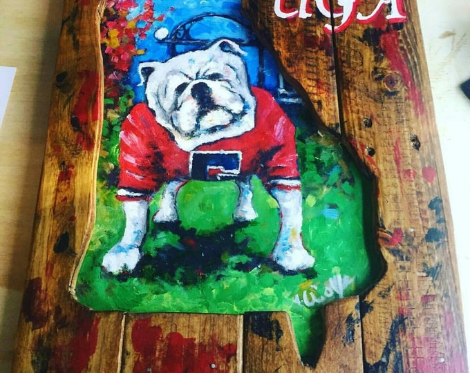 Featured listing image: UGA Handmade Wall Art by Matt Wolfe
