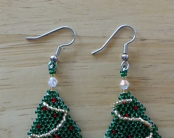NEW design Little Christmas Tree earrings