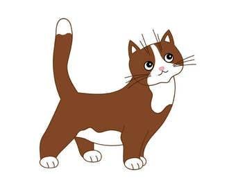 Katze Cartoon Clipart Etsy