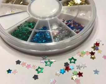 3000 piece all kind of stars nail art wheel, 3-4 mm (S3)